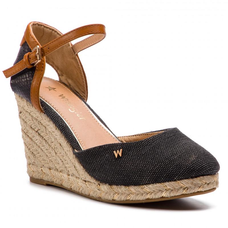 separation shoes d5b12 7d8e3 Sandali Punta Chiusa Corda Chescarpe Nero – Zeppe Tessuto In ...